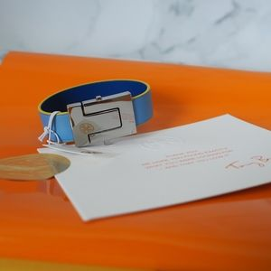 Tory Burch Multi Enamel Hinged Bracelet